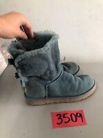 UGG-Australia-Womens-Bailey-Bow-Boots-1002954-BLUE SIZE 8 ugg