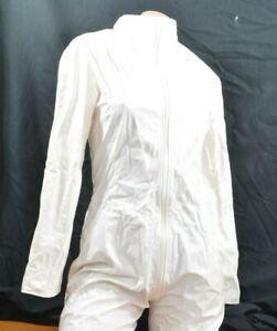 White PVC Catsuit Bodysuit  M Sinskin Boilersuit Droog