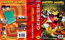Mickey Mania Sega Mega Drive NTSC USA Replacement Box Art Case Insert Cover Scan