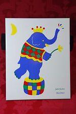 "Villeroy & Boch Blue Elephant Ceramic Tile Trivet by Zofia Rostad 9¾"" x 7¾"" New"