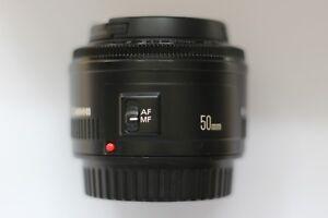 Canon EOS EF 50mm F1.8 II Autofocus Prime Lens for EOS DSLR inc Caps