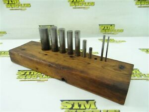 """LOT OF 9 PUNCHES 1/8"""" TO 1"""" DIAMETERS"""