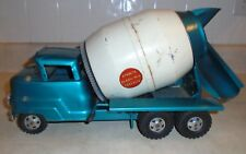 1950s Structo Truck Ready-Mix Concrete in a Rare Blue Color, Pressed Steel