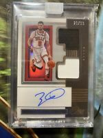2019-20 Zach Lavine Panini One and One DUAL JERSEY AUTO /99 SP BULLS INVEST