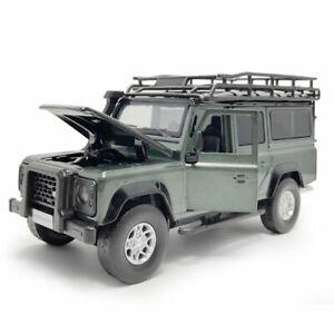 1:32 Land Rover Defender SUV Model Car Diecast Toy Vehicle Sound Light Green Kid