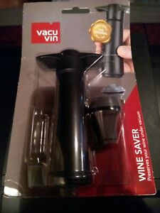 Vacu Vin Wine Saver Pump With 1 Stopper, Black