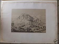 Théodore Claude Aligny Grèce Greece Corinthe eau-forte Etching 1845