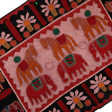 Handmade Patchwork Throw Table Cloth Tribal Tapestry Wall Hanging ''38x27''*****