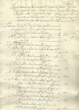 Santa Margherita di Belice Agrigento Antico Manoscritto di Frumenti 1721