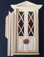 1:12 Doppia Porta Vittoriano in Legno & Cornice Casa delle Bambole Miniatura Accessorio Fai da Te 69