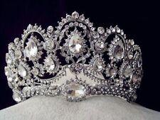 Super Big Bridal Tiara Crown Headpiece Rhinestone Wedding Prom Pageant Crowns