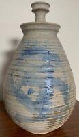 Vintage Stoneware Vase Jug Vessel Urn Mid Century Modern Studio Pottery Deyoe D