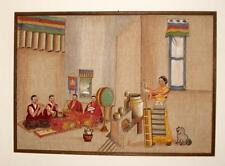 Tibetan Refugee Painting 1950, Kalimpong, India, Important Early Painting, Tibet