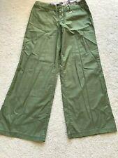 NWT NEW B by Burton light pants GIVE PEACE A PANT 8 M MEDIUM pockets fatigue