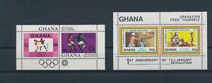 LN21965 Ghana olympics january revolution sheets MNH