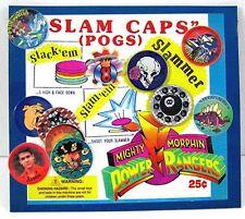 Power Rangesr Slam Caps Pogs Toys Gumball Vending Machine Disp Card #138