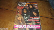 KISS - ON COVER MAY 1992 DUTCH AARDSCHOCK magazine rare Dutch isse Iron Maiden