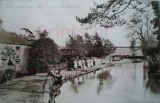 PRINT 10 X 7  SPRING AND COTTAGE HOME ECCHINSWELL NEWBURY BERKSHIRE c1908