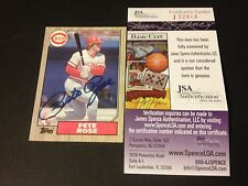 Pete Rose Big Red Machine 1987 Topps Signed Auto JSA COA