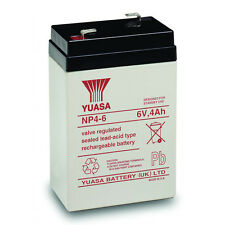 Yuasa 6V 4AH SLA Battery Replacement for EnerSys NP4-6