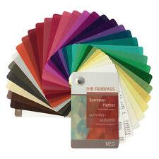 """Stoff-Farbpass, 30 Farben, Sommer-Herbst """"Neo"""" - Farbfächer Sommer-Herbsttyp"""