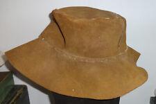 leather cord light weight Charcoal Grey Hillbilly Floppy Hat- Adjustable Felt