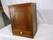 FOLK ART ANTIQUE PRIMITIVE WALL CABINET SQUARE NAIL medicine dove tail JOINTS