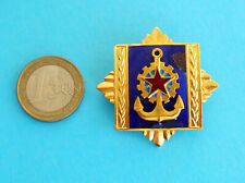 YUGOSLAVIA NAVY (JRM) ACADEMY large enamel breast badge (damaged) * JNA Army RRR