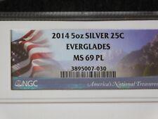 2014 Everglades Florida NGC MS69 PL America The Beautiful 5 oz Silver