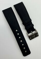Authentic Hautlence 22mm x 18mm Black Alligator Watch Strap Titanium Buckle OEM