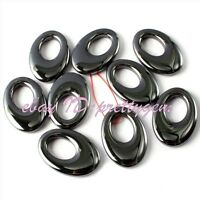 Natural Black Hematite Gemstone Beads For Jewelry Making Spacer Pendant 1 Pcs