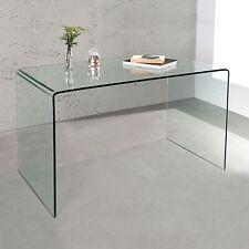 cagü: DESIGN RETRO GLAS-ESSTISCH ESSZIMMERTISCH [MAYFAIR] TRANSPARENT 120cm 70cm