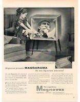 1955 MAGNAVOX Magnarama 24 Television TV Mid-Century Modern Retro VTG PRINT AD