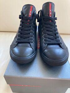 Prada Herrenschuhe Sneaker Kalbsleder Luxus Größe 8,5