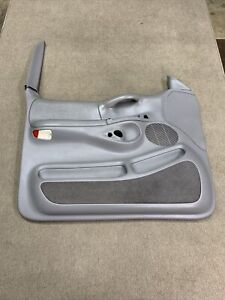 1997-1998 Ford  F-150 Driver Side Power Door Panel Gray / Grey OEM