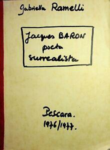 🌓 Gabriella Ramelli JACQUES BARON Poeta Surrealista Thèse de doctorat italien