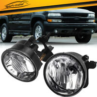 for 04-06 Chevy Tahoe Suburban Z71 Clear Front Bumper Fog Light Lamps Left+Right