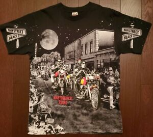 VTG All Over Print BIKETOBERFEST 2004 Daytona Beach Rally Biker Festival 🔥