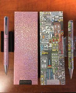 "Graphique de France ""Pink Bling"" and ""Big City New York"" Ballpoint Pen Set"