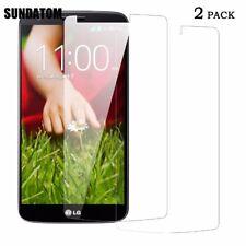 LG G2 Film protection écran en verre trempé ultra résistant et transparent (X2)