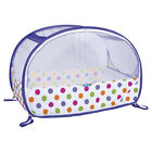 Koo-di Compact Pop-Up Bubble Home - Travel Baby Cot with Carry Bag - Purple Dot