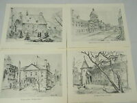 Lot Of 10 Norman Kirk Prints Portfolio Old Montreal Wolfe Press 8.5 by 11 Inch