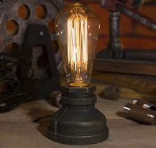 Loft E27 Vintage Industrial Metal Edison Desk Lamp Nightstand Steampunk Light