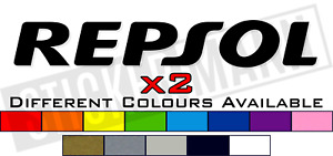 2 x REPSOL HONDA TANK FAIRING STICKERS / DECALS - DIFFERENT COLOURS AVAILABLE