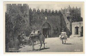 Carte Postale Palestine Jérusalem Damascus Porte 1936