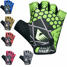 VELO Cycling Gloves Fingerless Bicycle Half Finger Bike Padded Sports Riding