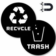 (4in x 4in) Recycle Logo and Trash can Magnet to Organize Your Trash - for Metal