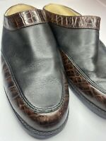 ARIAT 94302 WMNs 9 Brown Croco & Brown Leather Western style Clogs Mules Shoes