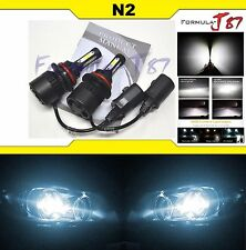 LED KIT N2 72W 9004 HB1 6000K WHITE HEAD LIGHT DUAL BEAM LAMP REPLACEMENT FIT