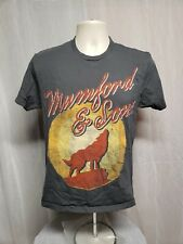 2013 Mumford and Sons Tour Adult Small Gray TShirt